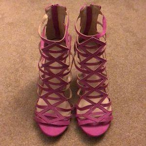 Pink Sandals w/ Heel